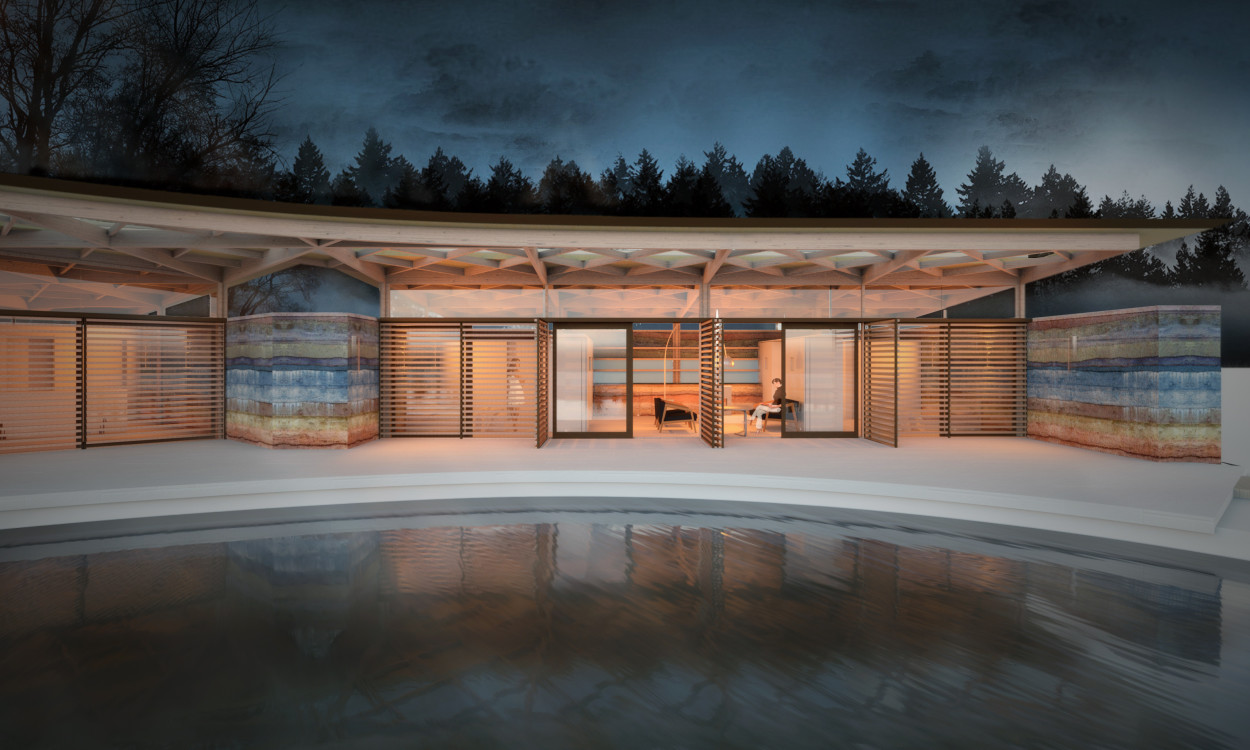 Luxury eco spa langstaff day - Salon eco construction ...